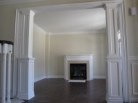 Images picture gallery crown moulding work installtion for Interior square column designs